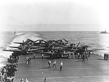 8 VT-6 TBDs on USS Enterprise, during the Battle of Midway