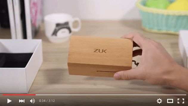 Mola: La invitación del ZUK Z1 incluye una caja de música de madera