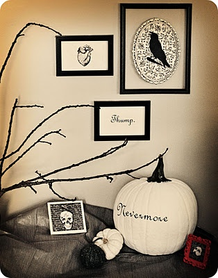 Poe inspired decor.  Love that man!  Sigh.