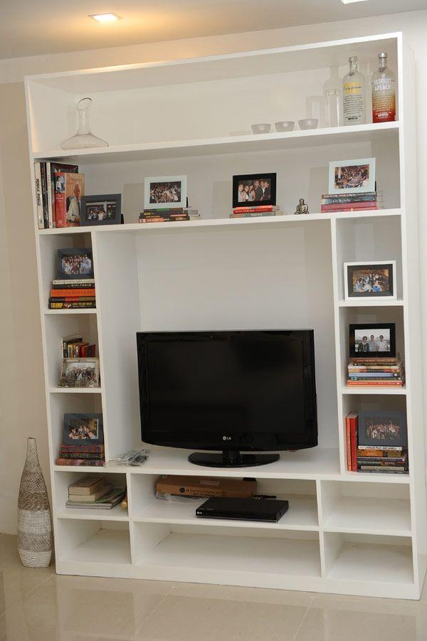 Tv With Bookcase For Small Condo Living Room Home Interiors Apartment Design