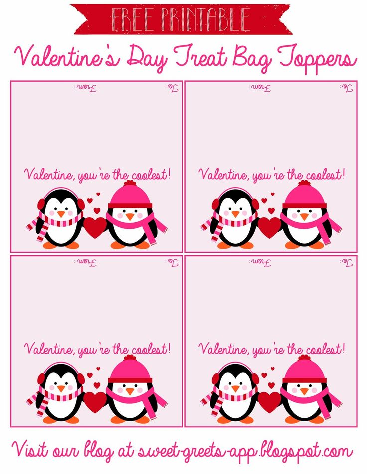 Just Peachy Designs: Free Printable Valentine's Day Treat Bag Toppers