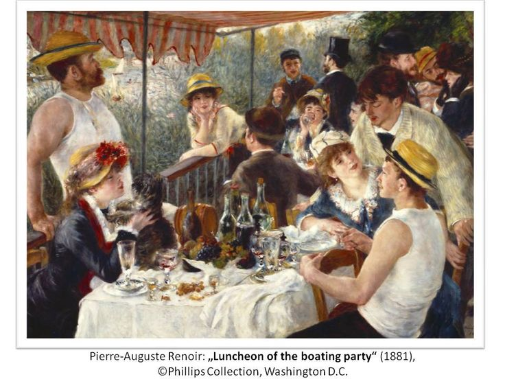 """Pierre-Auguste Renoir: """"Luncheon of the boating party"""", 1881; © Phillips Collection, Washington D.C."""