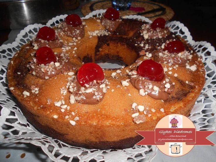 Cake marbré, cocoa - orange flavor / glykesdiadromes.wordpress.com