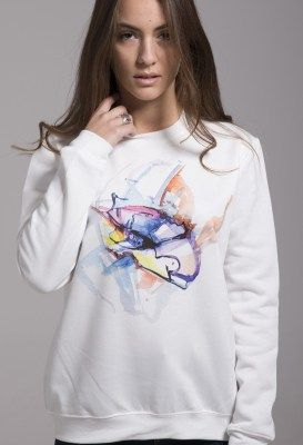 """Dizzy passion On Sale Now 45.00 € The artistic pattern is from the painting collection """"Elements of Nature"""" by Liana Kraniotou. Printed on fabric with digital printing. 70% polyester, 30% cotton Round neck Full length sleeves"""