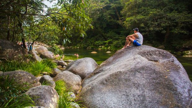 The Mossman Gorge in North Queensland's Daintree region is not far from Cairns.