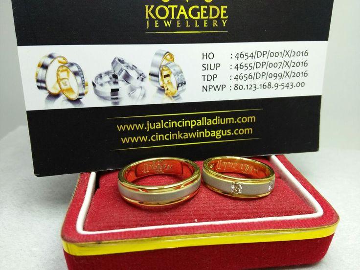 Jual cincin kawin palladium, cincin emas, cincin perak jogja