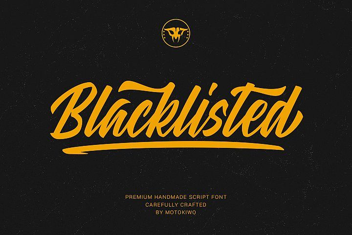 Blacklisted Vintage Script Font Vintage Script Retro Cool Clean Brush Custom Lettering Alternates Handlett