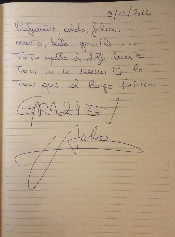 A comment by the Italian actress #AmbraAngiolini, guest in our hotel