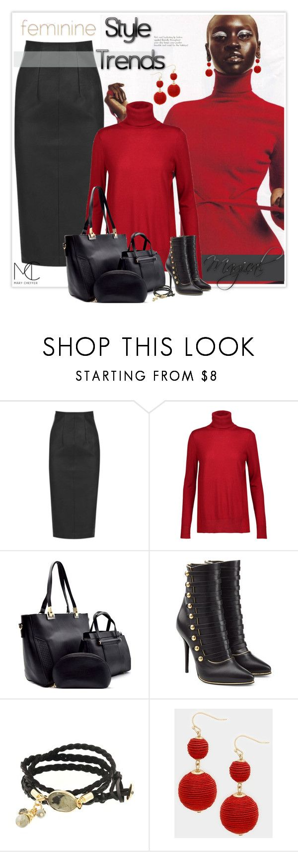 """""""Style Trends"""" by mcheffer ❤ liked on Polyvore featuring Oasis, Magaschoni, Balmain, marycheffer and marycheffertictail"""