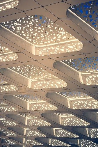 Marrakesh airport, fabulous architecture detail