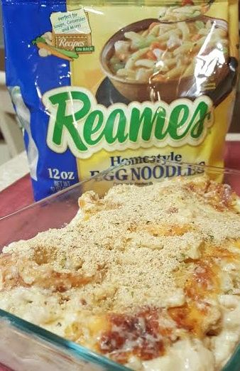 Chicken Alfredo Casserole w/ Reames Noodles PLUS $50 Gift Card Giveaway (AD)
