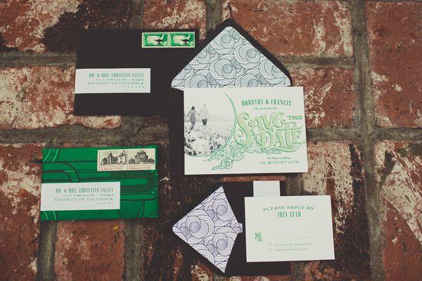Emerald Wedding Invitation Wizard of Oz Wedding Inspiration