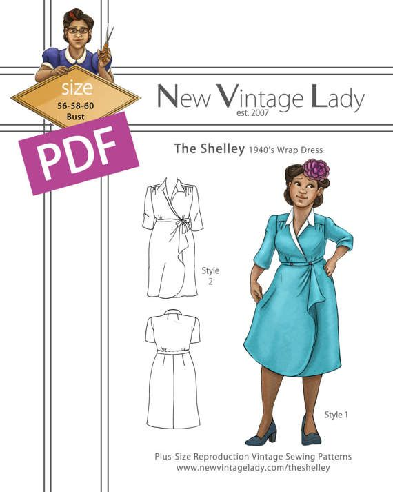 My first repro pattern is live in PDF! All 5 size packets available in sizes 40-60 bust!  #yaysewing #newvintagelady