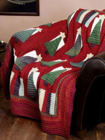 75 Best Crochet Christmas Afghansthrowspillows Images On Pinterest