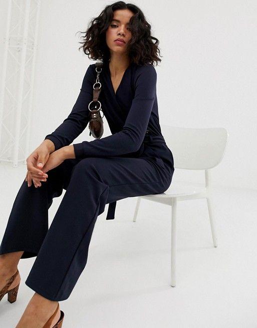 bd3fae2f1604 Vero Moda wrap button detail jumpsuit in 2019