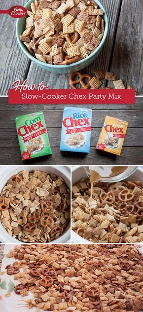 Who says you can't teach an old snack new tricks? You'll be hooked on this fool-proof method for making Chex party mix.