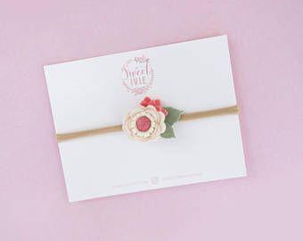 Diadema de flor pequeña venda del bebé de la floración venda
