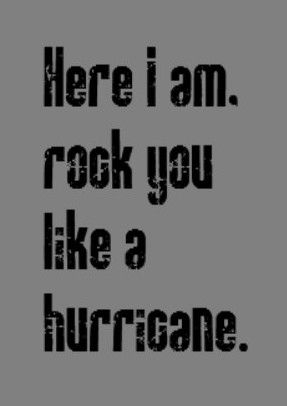 Scorpions: Rock You Like a Hurricane - if you're an exmormon, i have the greatest story about this song.. we had karaoke at an adult xmas ward party.. it involved the young men's presidency performing this song.. just imagine it. only one of the men were left standing up there by the end of the song.. and the bishop! lmfao! you should have seen him sitting there with that look.. he could pass for bednar's brother. best mormon memory ever!!! #exmo #exmormon