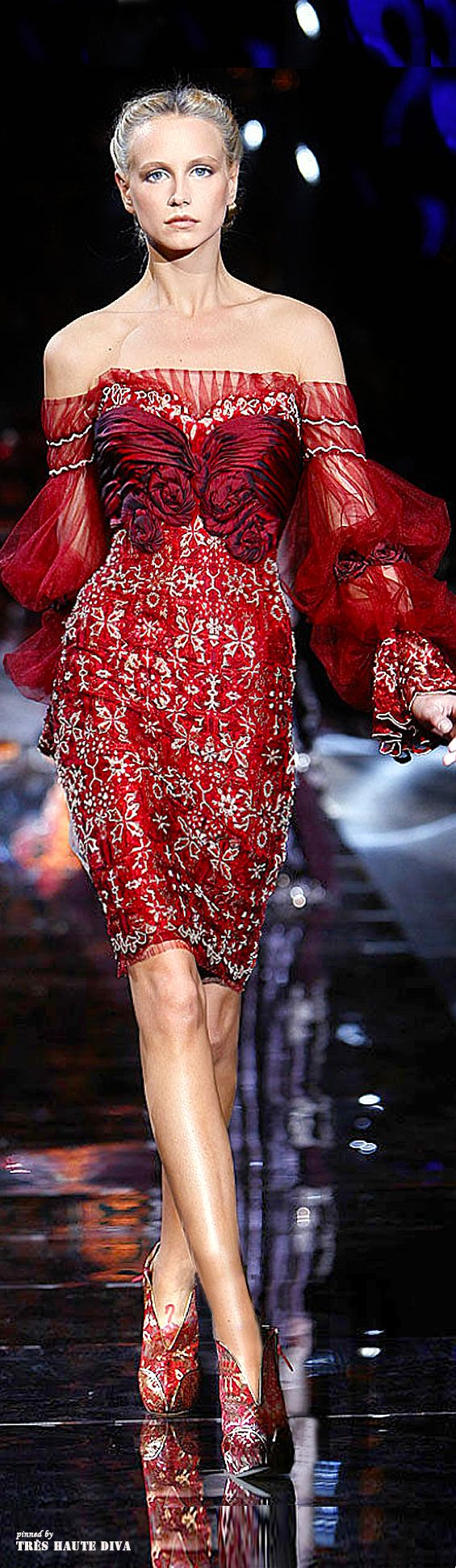 [Mutant breasts?  Daddy and I were just talking today about those mutant ducks by the St. Joe River, and then I saw this.]  Zuhair Murad Fall/Winter Couture