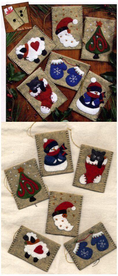 figuritas navideñas en fieltro