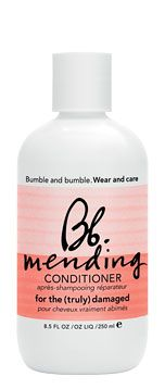 mending conditioner repairs damage immediately without damaging color treated hair, wilting perms, or reversing chemically straightened hair.  Recommended for the truly damaged hair who have chemical treatments on the reg. Used best after Mending shampoo and before Mending Masque.