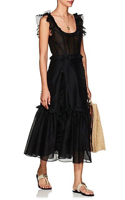fa3283b7d Ulla Johnson Brigitte Cotton-Silk Corset Maxi Dress - Dresses - 505600827