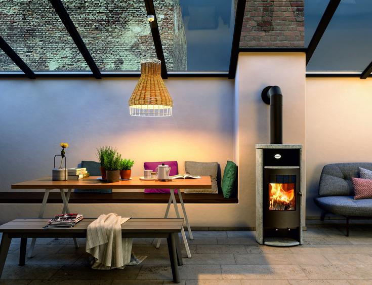ein kaminofen ist modern und macht ein zuhause gemtlich neben dem warmen feuer nimmt man - Bcherregal Ideen Neben Kamin