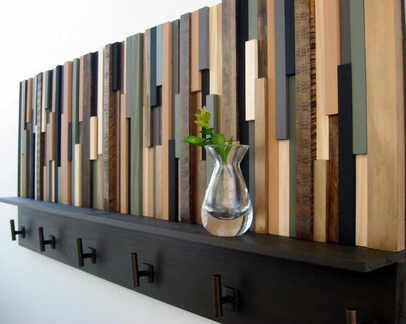Wood Coat Rack With Shelf Rustic Wood Sculpture Coat Hooks