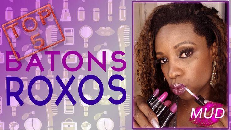 Top 5 Batons Roxos - MakeUp Drops