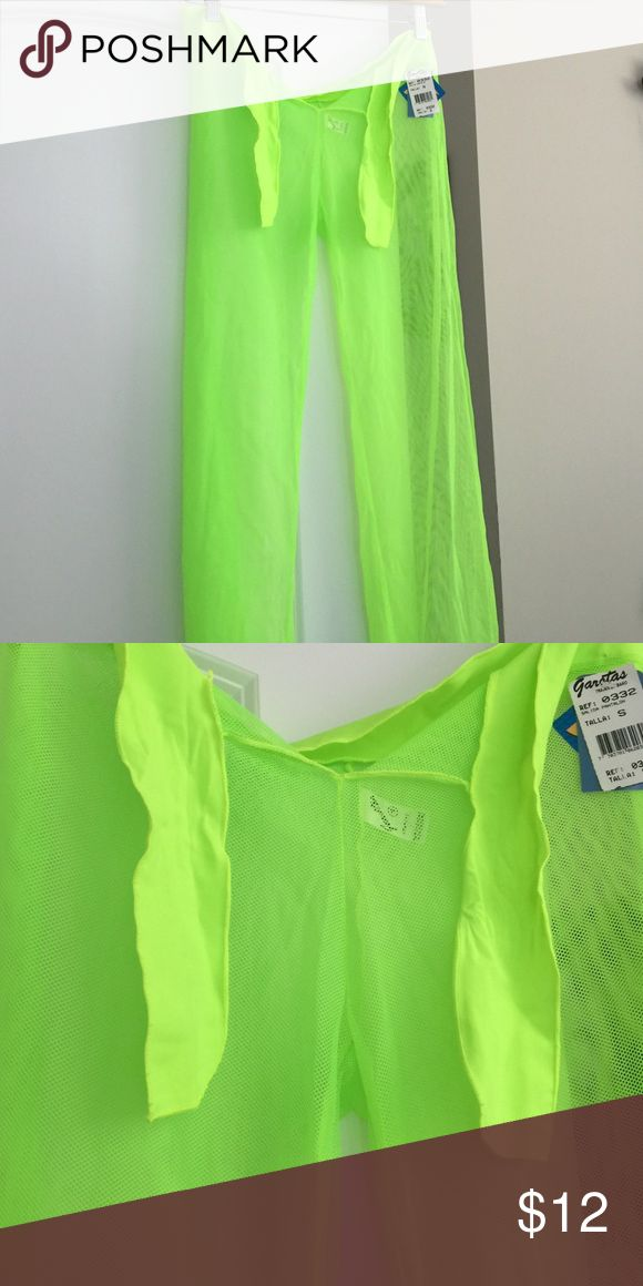 Neon pants for swimwear Cute neon pants for over your bathing suit. New with tags . Great color Pants