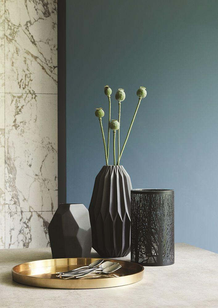 For autumn/winter 2016, choose unique accessories in a matte black finish for a contemporary look. Click to shop our Matte Black Flute Vase.