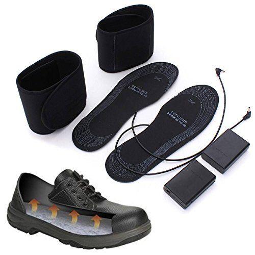 CAMTOA 1 Paar Warm USB Heizung Einlegesohle Beheizbare Schuheinlagen Schuhheizung Winter 36-46 geschnitten Einlagen f�r Schuhe Stiefel alle Schuhgr��en