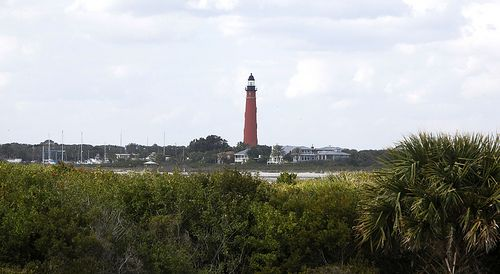 Views of the Ponce Inlet Lighthouse can be seen the northern most park, Smyrna Dunes Park in New Smyrna Beach.