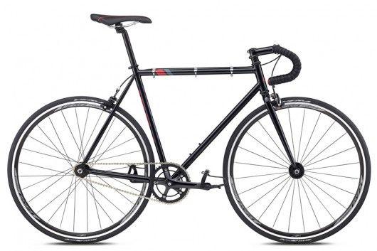 Bicicleta Pista Fuji Track Negro/Rojo 2018