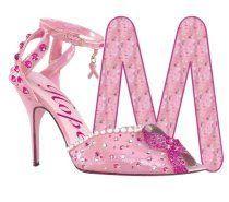Alfabeto con tacones rosa. | Oh my Alfabetos!