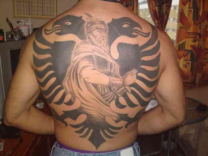 albanian sleeve tattoo