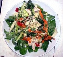 This unusual Asian-style salad is a delicious treat for a fast day.  Lots of healthy and fresh herbs. Fits specially to those who undergo strict diet. Must try this, enjoy!  susanneshealth.com