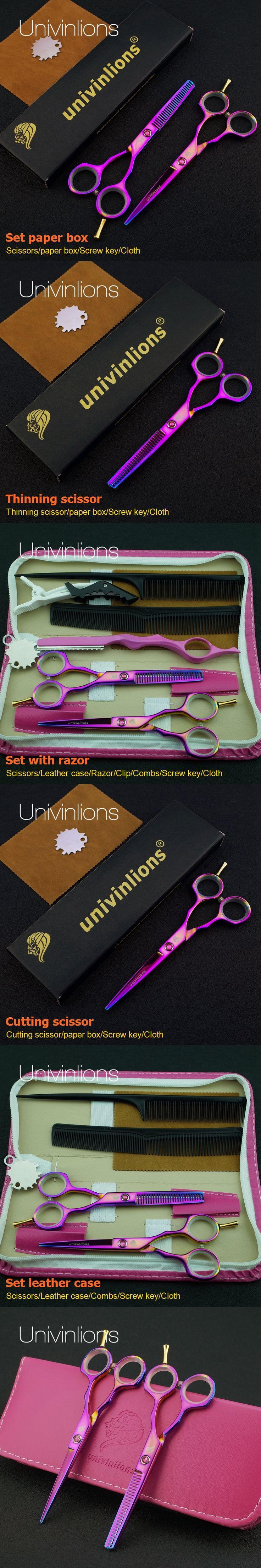 "5.5"" hot sharp rainbow shears titanium hair scissors titan scissors cheap thinning scissors haircutter barber razor edge haircut"