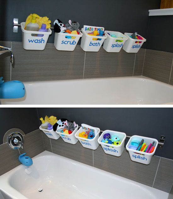 Bath Toy Storage | Click Pic for 25 DIY Small Apartment Decorating Ideas on a Budget | Organization Ideas for Small Spaces