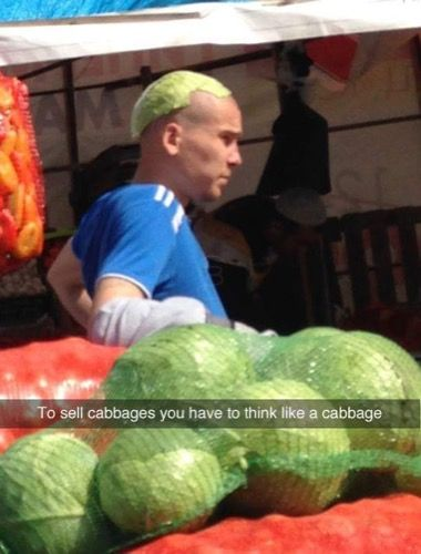 Be the cabbage...Be the cabbage.