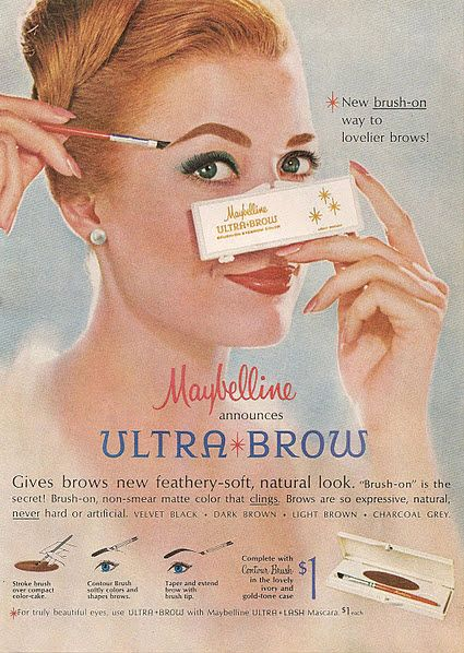 We have been talking about brows forever -  look at this treat ! Vintage Maybelline