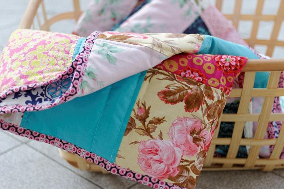 Romantic Quilt Hand-Crafted Quilt Floral Style Cottage