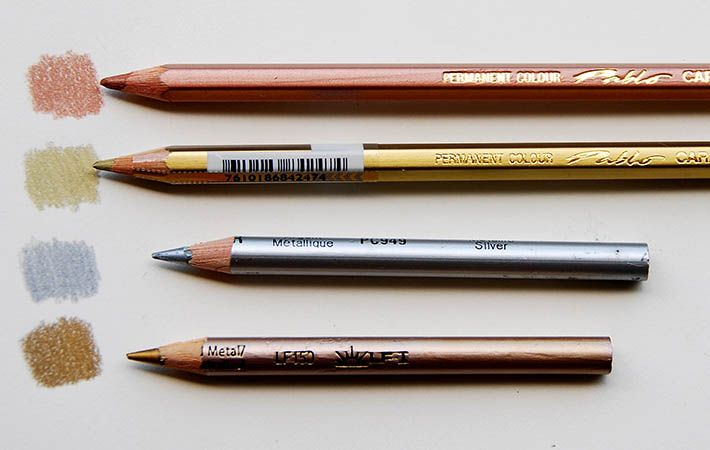 metallic colored pencils. Great tips on how to incorporate these beautiful colored pencils into our art.