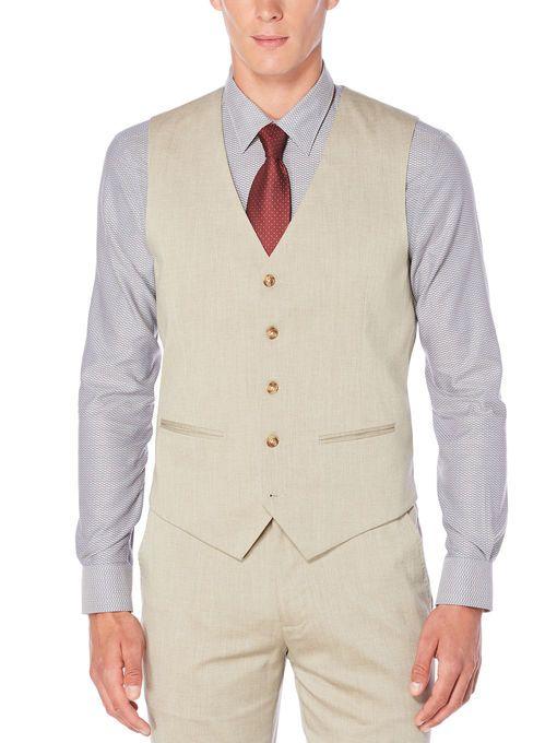 5e5feecd19 Perry Ellis Regular Fit Performance Heather Twill Suit Vest