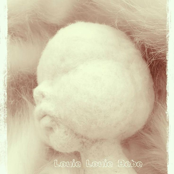 Needle Felted Sculptured Doll Face By Louie Louie Bebe