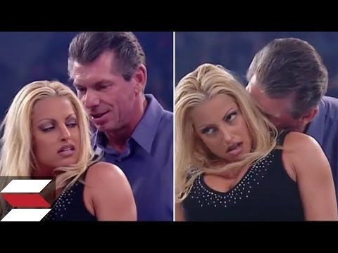 A classic Moment in the wwe History Where WWE Trish Stratus forced to Strip by Vince McMahon HD In the ring. Vince McMahon Gives Trish Stratus A Lesson. Trish Status Cheats on Vince McMahon so McMahon takes a revenge and give her a very nice lesson,  Subscribe for more hottest updates from WWE.