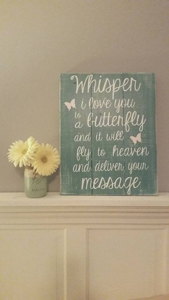Whisper I love you Heaven sign reclaimed wood by HillcraftDecor