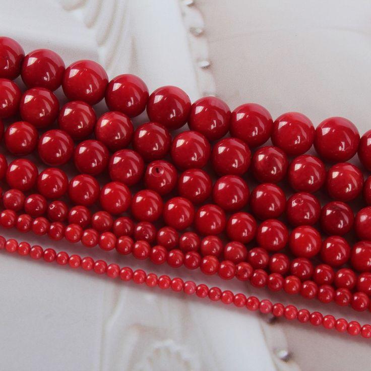 Мода высокое качество для натуральный красный коралл круглый прокладки бусины 16 '' 2 мм 3 мм 4 мм 5 мм 6 мм 7 мм 8 мм купить на AliExpress