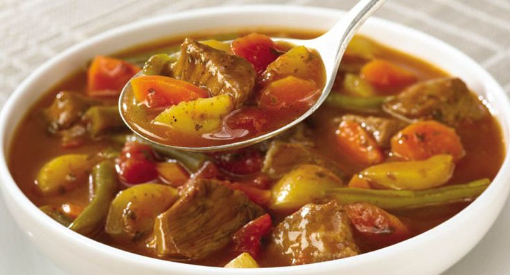 Slow Cookers Vegetable Beef Soup   Recipe