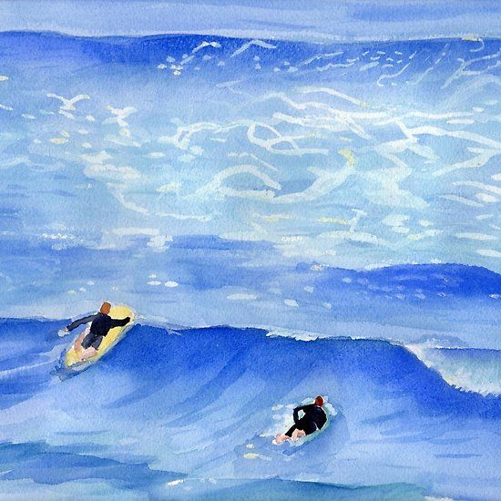 Taking the next wafe Surf Art Painting